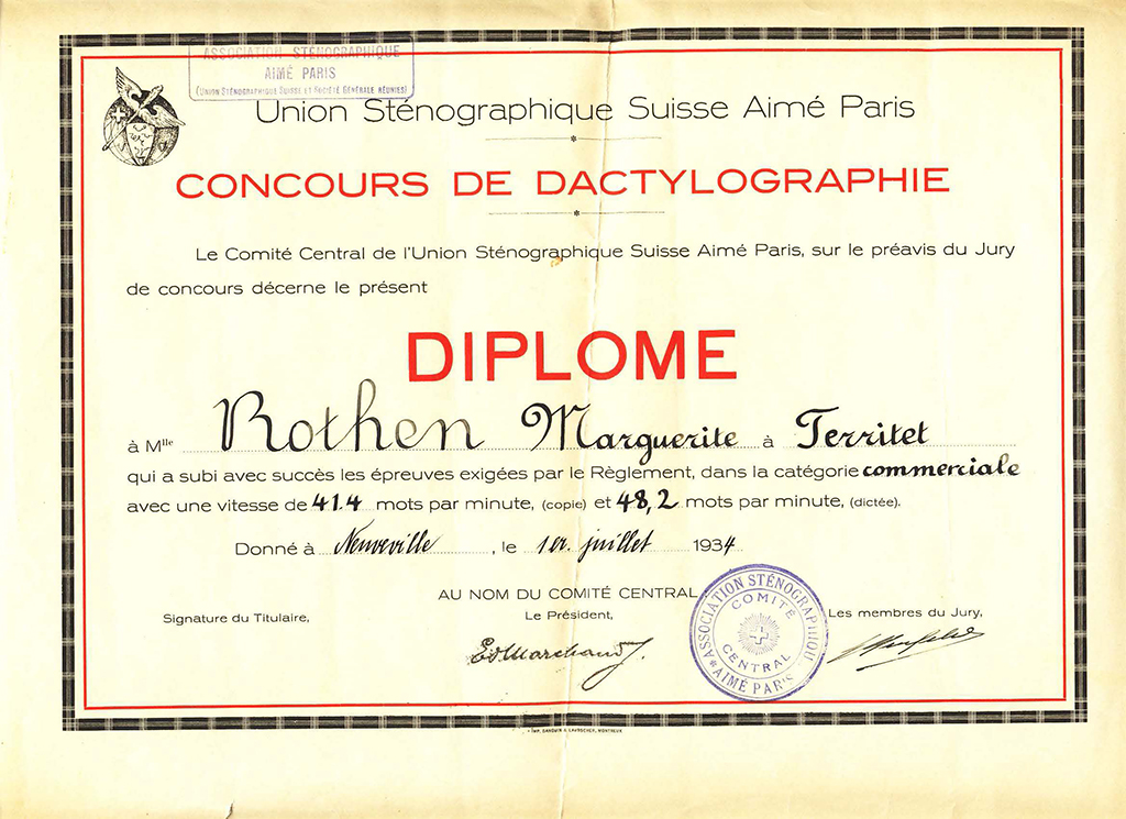 Margaret Kitchin Certificates And Inscriptions
